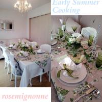 川島 静香さんのサロン「ローズミニョンヌ」にて、初夏の『おもてなし料理』を楽しんできました。