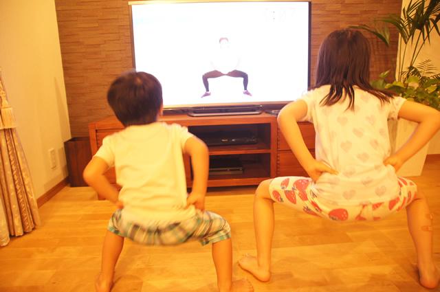 ayaのトレーニングは子供でもできます。