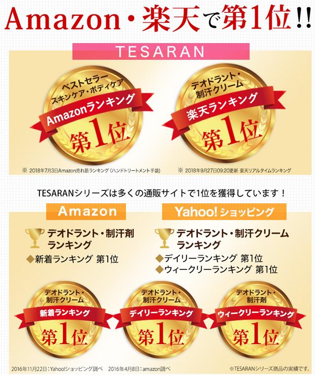 テサラン ランキング第1位
