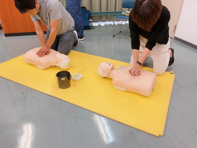 人工呼吸 手順,人工呼吸 講習
